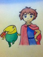 Oliver and Drippy by Racheii