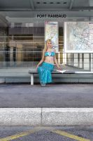 Ariel waits for the bus - 3 by flop404