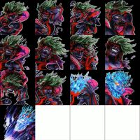 Kid Icarus Uprising Hades' Expressions Template by RabnadSkubla