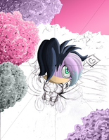 Practice: Lavender looking up by Lavenkitty