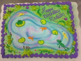 Frogs and Lilypads by AingelCakes