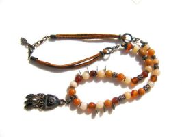 Bohemian Style Agate Necklace by pestenkerani