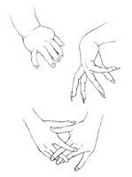 Study of Hands II by delespi