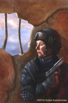Female soldier by Goliat74