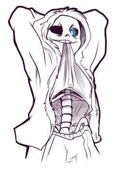 Undertale - Sans Shirt Lift by Kayla-Na