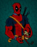 Deadpool and dead.... head by pascal-verhoef