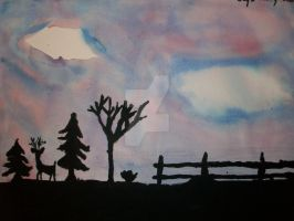 Silhouette Practice, 6th grade, 2005/2006 by littlewaysoul