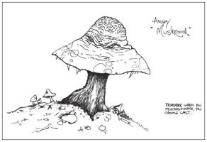Angry  Mushroom by inphested