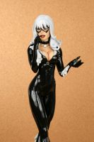 Black Cat 02 Painted Close-up by TKMillerSculpt