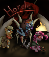 Warcraft Ponies - For the Horde! by PaintedHooves