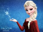 Frozen Elsa Red dress by Vegetto90