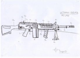 Ultimax 100M2 Light Machine Gun by Target21