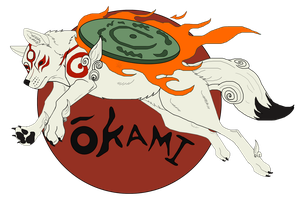 Okami Chalk Day Idea by Black-Tiger-of-Evil