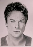 Ian Somerhalder / Damon Salvatore by Leenke