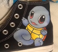 Squirtle Custom Shoe by BreannaKayEvans