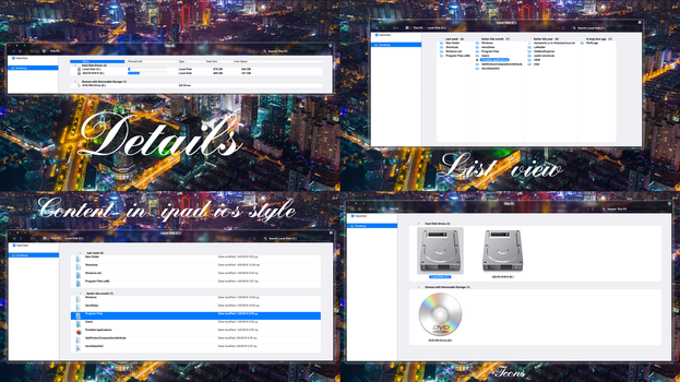 i os  style in Folders preview. by ZEUSosX