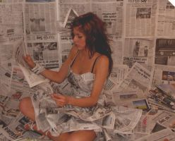 newspaper dress5 by CharlotteHemingway