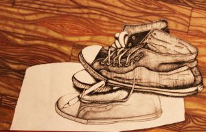 Inking Shoes Colored by RainingCranes