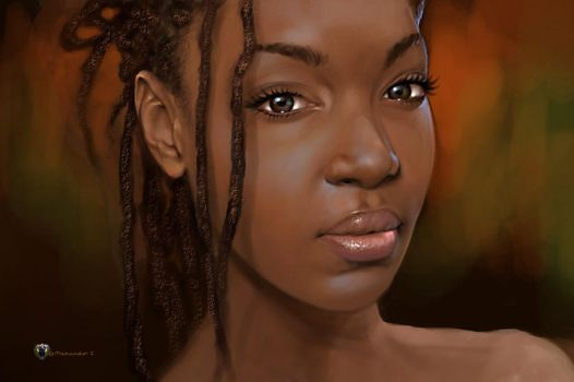 The lovely Afua by Mshindo9