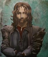 Aragorn in Acrylics by RevanREK
