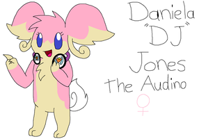 Daniela (DJ) Jones the Audino by Hawkeye-Ryuu