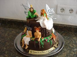 Midsummer Night's Dream cake by Xiakeyra