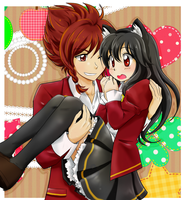 Ayame and Ryu 3 --- Commission by chikorita85