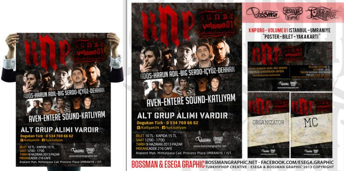 KNP Org vol 01 - Istanbul Poster Design by BossmanGraphic