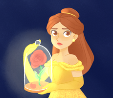 Belle and the Rose by sirenami