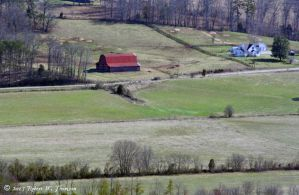 The Farm with the Red Roofed Barn by hunter1828