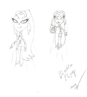 Blackfire Flying (Teen Titans Go! Art Concept) by imperial96