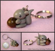 Cute squirrel charm by o-YuRiko-o