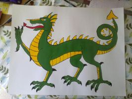 Pin th Wings on The Dragon Game by hollyann