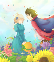 Howl's Moving Castle : Spring Breeze by ChocoVanillaX