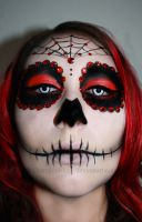 Red Sugar Skull by DraculeaRiccy