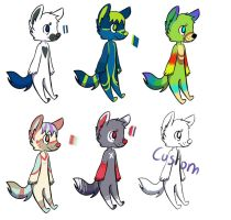 adoptables by xXTheMooXx