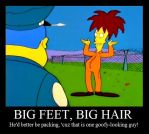 'Big Feet, Big Hair' poster by Nevuela