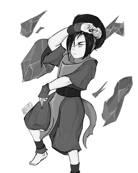 Toph Beifong - (Pose Practice) by Kennuhs
