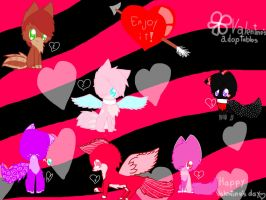FREE VALENTINE'S DAY ADOPTABLES (ONE LEFT) by Petrichor-Autumn