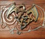 Steampunk Celtic Knot Dragon Necklace by ShadyDarkGirl