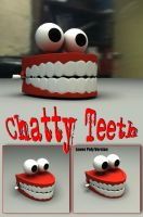 Toy Chatty Teeth 3D Model by sicklilmonky