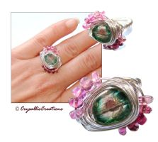 Exotic Garden Tourmaline ring by CrysallisCreations