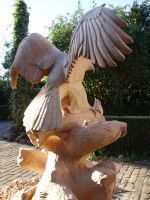 Woodcarver Eagle in progress10 back by woodcarve