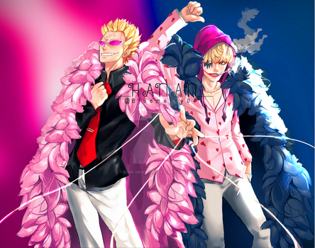 Doflamingo and Rosinante by blue-merry-04