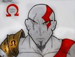 Kratos of GoW (draw) by kaiserkill1