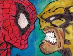 Spiderman Vs. Wolverine by KeraDavis98