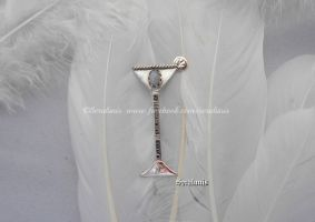 'Flute cocktail', handmade sterling silver brooch by seralune