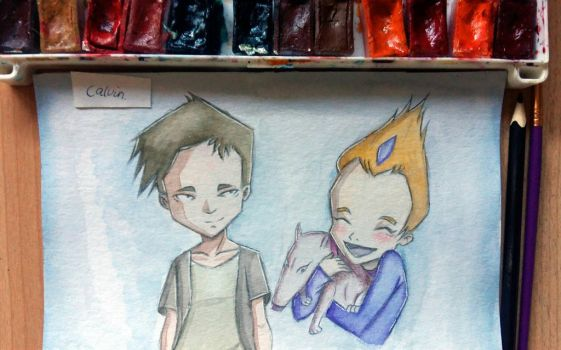 Code lyoko Ulrich and Odd by inazumagalaxy