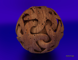 Wooden linking stars by fractalyst