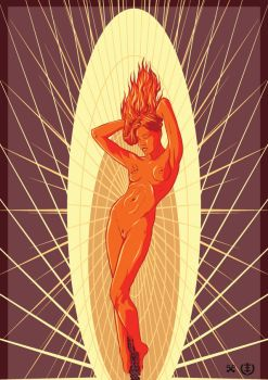 Flickering Flame Femme by e1-since1987